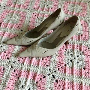 Linea Paolo white heels, size 8